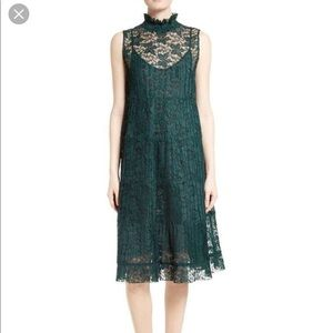 See by Chloe forest green lace dress sz 42